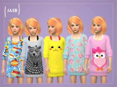 Set Jumpsuit Owl Ethnic Terlengkap sims 4 child cc descargas los sims 4