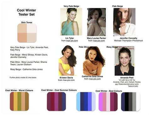 celebrity skin tones summer 642 best images about seasonal colour analysis on