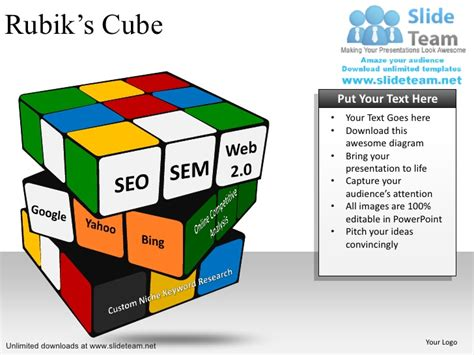 How To Make Advance Rubik S Cube Power Point Slides And Ppt Diagram T Powerpoint Cube Template