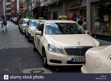 Mercedes In Germany by Mercedes Taxi Cab Car Rank Queue Cologne Germany Europe Eu
