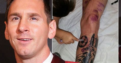 lionel messi tattoos lionel messi gets a new world recoils in horror
