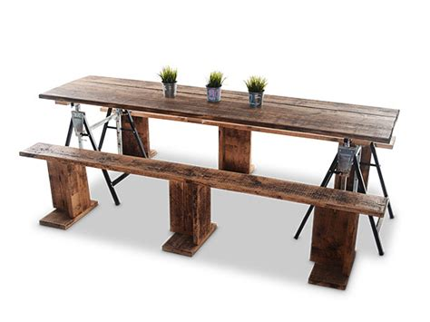trestle table and bench hire reclaimed scaffold board trestle tables and benches