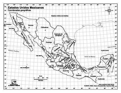 imagenes satelitales con coordenadas mapa para imprimir de m 233 xico mapa de estados unidos