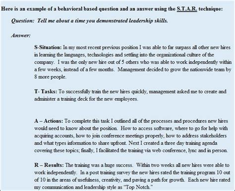 star method for behavioral interview questions updated 9 13