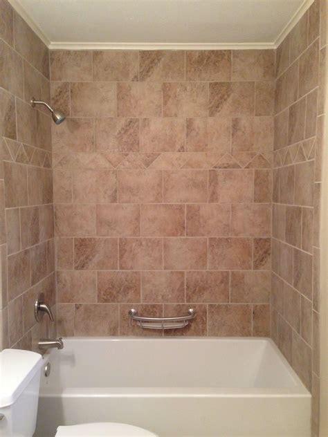 tile surround bathtub beige tile around bathtub our