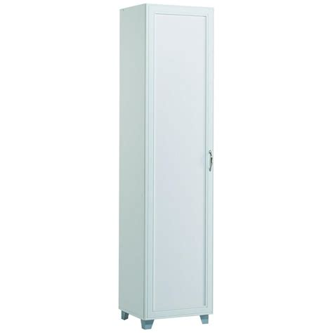 white storage cabinet home depot akadahome 5 shelf single door storage cabinet in white