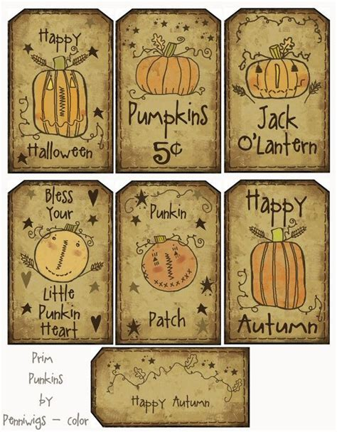 printable hang tags free printable 14 prim punkins hang tags n collage sheet