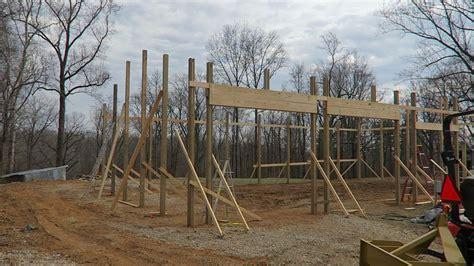 pole barn framing post frame building ep youtube