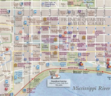 printable french quarter map french quarter n wahlins dreaming pinterest