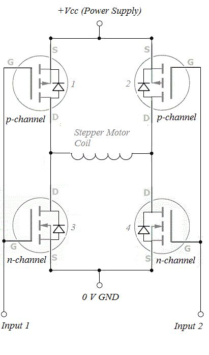 h bridge diode protection h bridge driver for two phase bipolar stepper motor