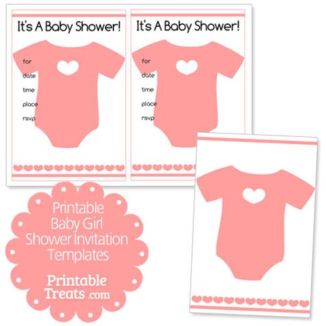 free printable baby girl shower invitation templates
