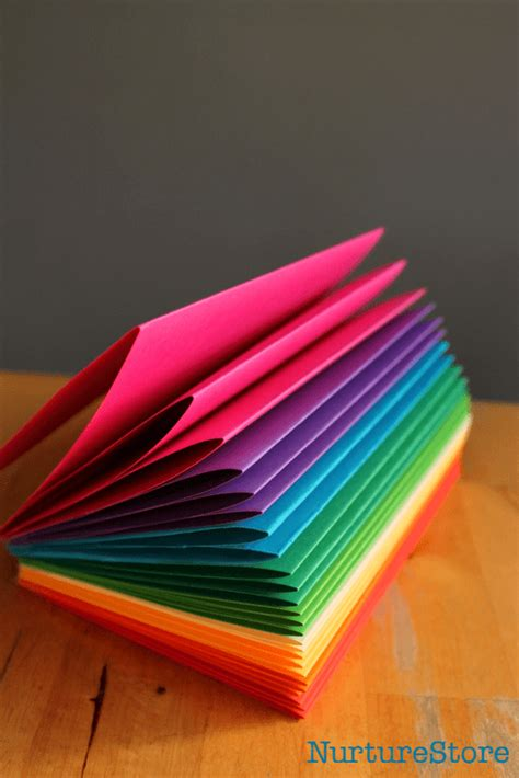 How To Make Books how to make a rainbow zigzag book nurturestore