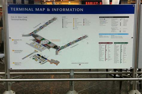 indianapolis international airport iia terminal map