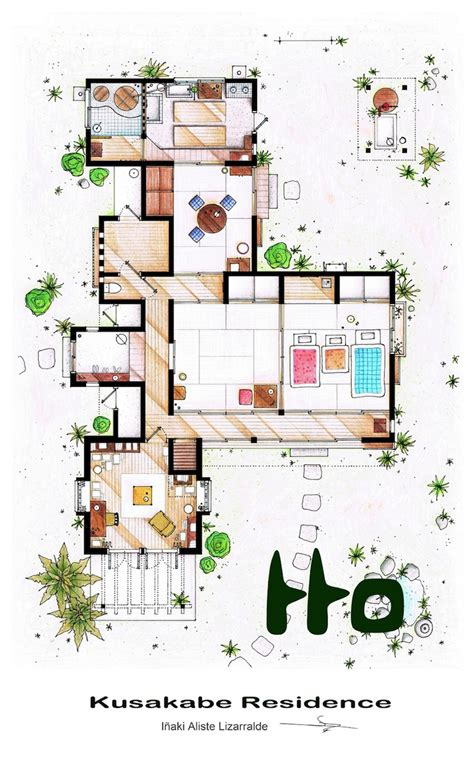detailed house plans detailed floor plan drawings of popular tv and film homes