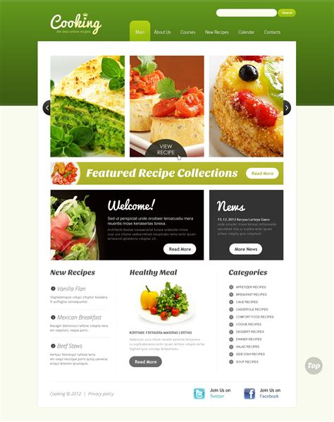 Cooking Website Template 38206 Cooking Website Templates Free