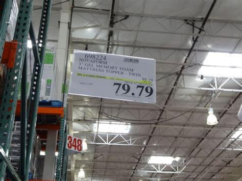 Costco Mattress Topper In Store by Novaform 3 Inch Gel Memory Foam Mattress Topper
