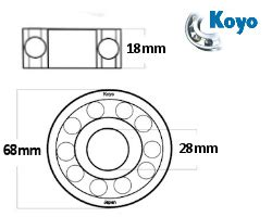 Bearing 6328 Koyo p j motorcycle engineers ltd koyo crankshaft bearings