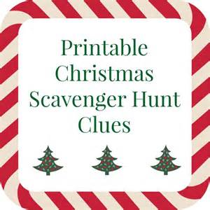 printable christmas scavenger hunt clues printable christmas scavenger hunt clues for present