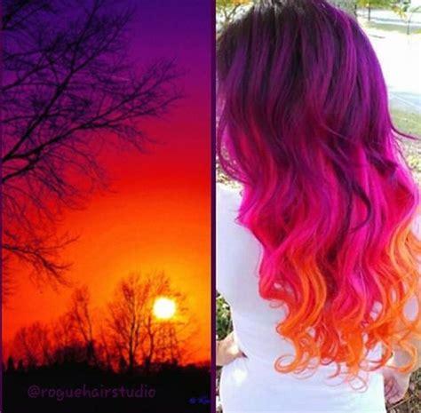 sunset hair color best 25 sunset hair ideas on ombre hair