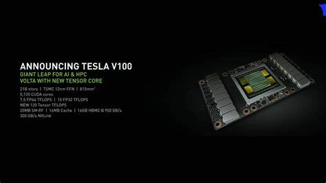 بطاقة انفيديا tesla v100 هي أول نواة معالج رسومي بالعالم