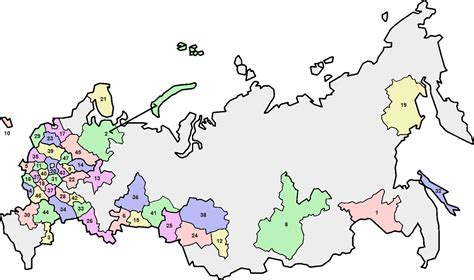 russian provinces map quiz russia oblast map