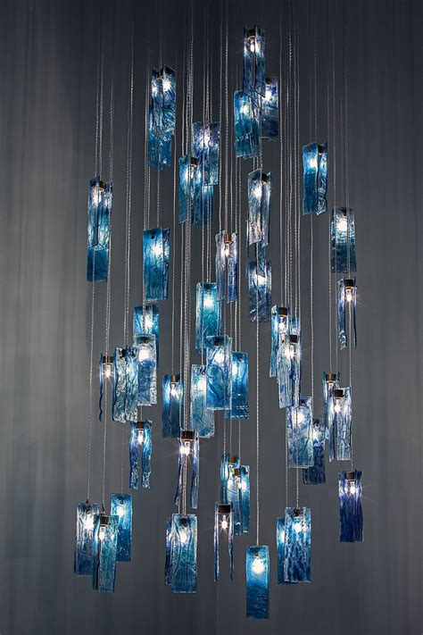 Glass Chandelier Artist Glass Lighting Stained Glass Chandelier Made To Mesure Canadian Designer