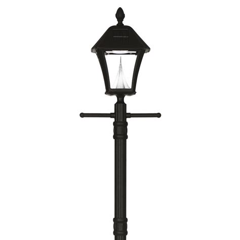 gama sonic solar powered l post darby home co wharton solar l light led quot post light