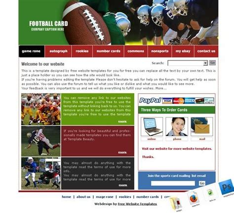 Website Template Templates Free And Sports Website On Pinterest Sports Team Website Template