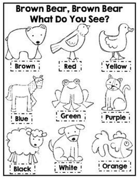 printable version of brown bear brown bear learning colors activities for kindergarten learn colors