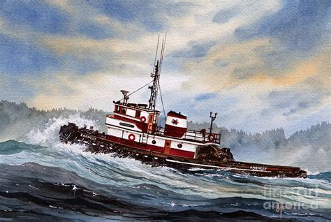 tugboat painting tugboat earnest by james williamson
