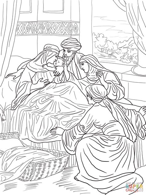 coloring pages john the baptist birth the birth of john the baptist coloring online super coloring