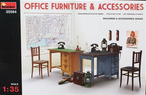 office furniture and accessories miniart 35564 1 35 office furniture and accessories look