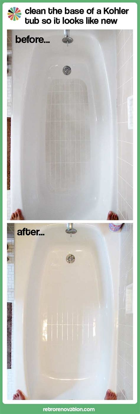 cleaning bathtub cleaning the bathtub slip resistant bottom omg it s like new retro renovation