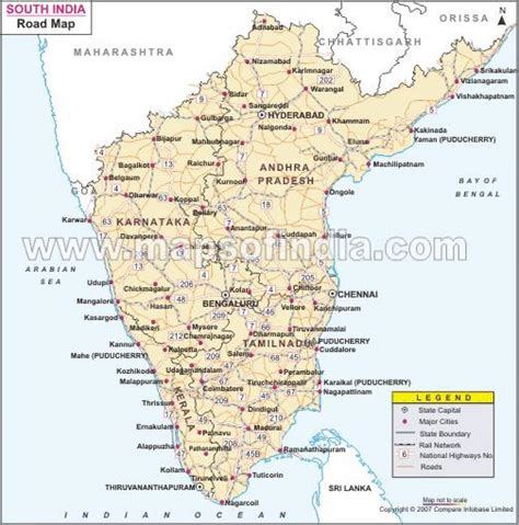 printable road map of india south indian road map road map south india southern