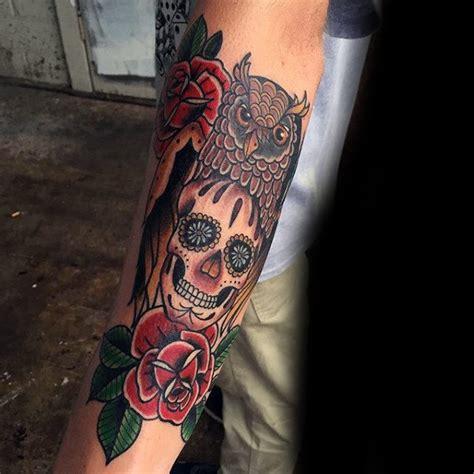 skull tattoos for men on arm 100 sugar skull designs for cool calavera ink