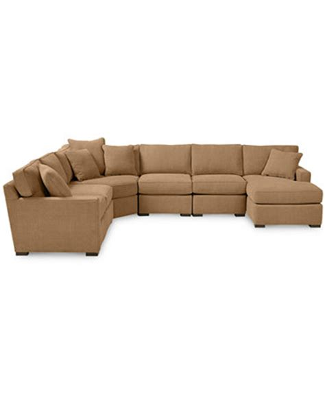 Macys Radley Sectional by Radley 6 Fabric Chaise Sectional Sofa Custom Colors