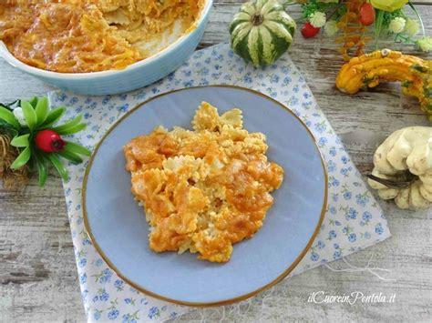 come cucinare la zucca con la pasta pasta con la zucca al forno ricetta pasta con zucca il