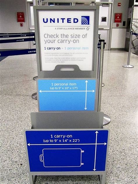 united airlines checked baggage size flying this weekend you may want rethink your carry on