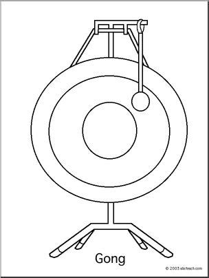 chinese instruments coloring pages coloring page gong abcteach