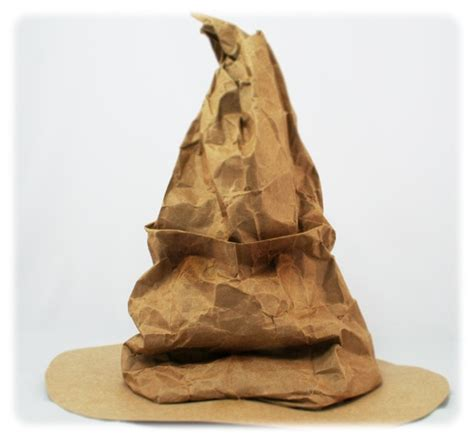 How To Make A Paper Bag Hat - sorting hat made from a paper bag this looks easy enough