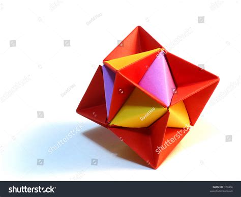 Simple Modular Origami - simple modular origami stock photo 379436