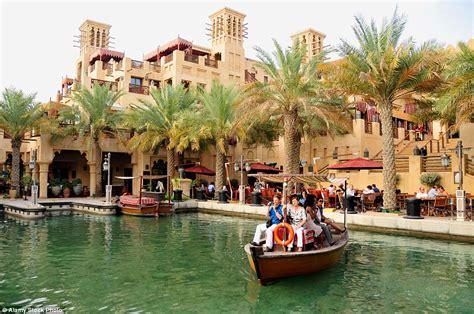 madinat jumeirah boat ride world s largest hotels put harmony of seas cruise ship to