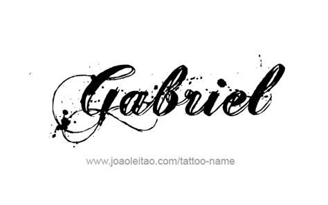 tattoo name gabriel gabriel angel name tattoo designs