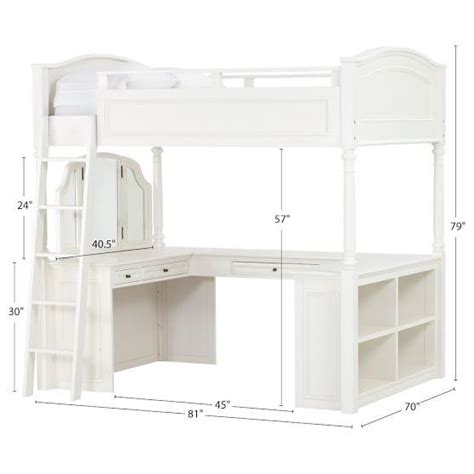 Chelsea Vanity Loft Bed chelsea vanity loft bed from pbteen