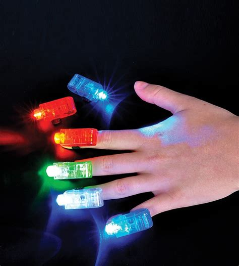 Glow Light by Led Finger Light Assorted Colors