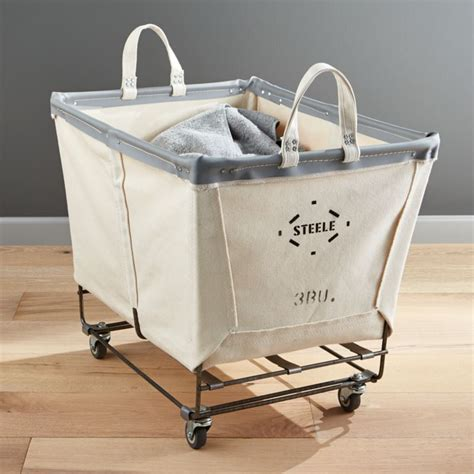 Steele Rolling Laundry Basket   Reviews   Crate and Barrel