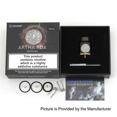 Authentic Artha Rda 24 Mm By Advken Fatrio Oten authentic advken artha rda black 24mm bf rebuildable