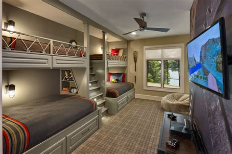 Ceiling Fan For Room With Bunk Beds by Bunk Beds For Rustic With Built In Storage Bunk