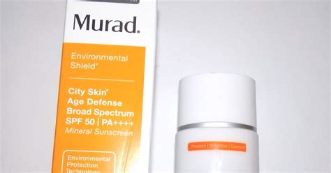 Murad City Skin Overnight Detox Moisturizer Reviews by The Alchemist Murad City Skin Age Defense Spf 50