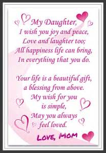 Beautiful Quotes For Daughters Birthday Love Daughter Love To Daughter From Mom Saying